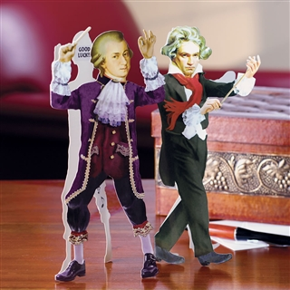 Mozart Cut-Out Greeting Card
