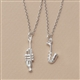 Silver Instrument Necklace