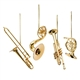 Miniature Brass Instrument Ornaments