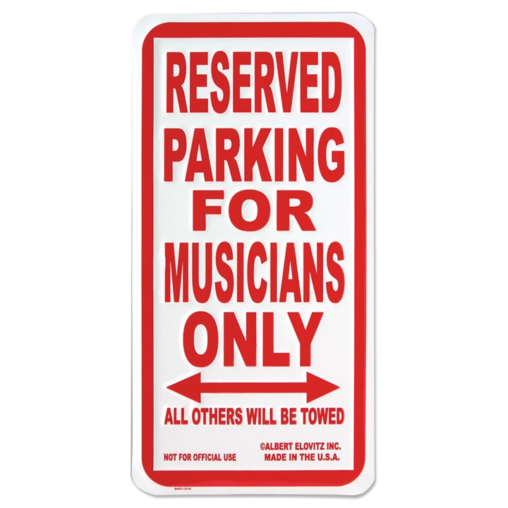 Musicians Only Parking Sign At The Music Stand