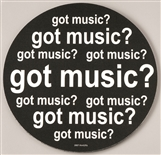 Got Music? Round Mouse Pad