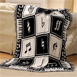 Keynote Black & White Cotton Throw