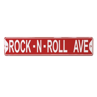 "Rock-N-Roll Ave 24"" Metal Street Sign"