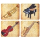 Instrument & Sheet Music Mouse Pad