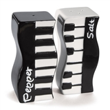 Wavy Keyboard Salt & Pepper Shakers