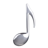 Eighth Note Fridge Magnet