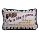 Life is Like a Piano Tapestry Pillow