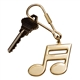 Double 16th Note Keychain