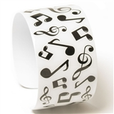 Music Notes Metal Cuff Bracelet