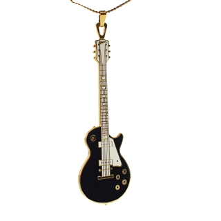 Les Paul Black Guitar Necklace