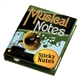 Musical Notes Sticky Notes Book