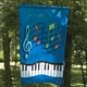 Music & Keyboard Garden Flag