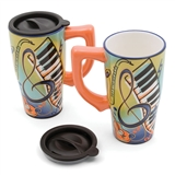 Vibrant Music Travel Mug