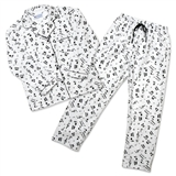 Women's Flannel Music Motif Pajamas