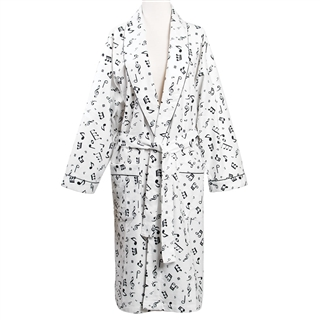 Women's Flannel Music Motif Robe