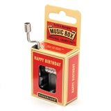 'Happy Birthday' Crankshaft Mini Music Box