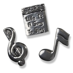Pewter Music Magnets