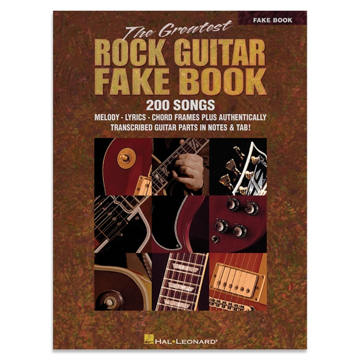 The Greatest Rock Guitar Fake Book At The Music Stand