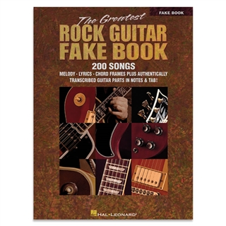 Greatest Rock Guitar Fake Book