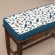Plush Tapestry Piano Bench Cushion