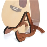 Deluxe Compact Folding Wood Guitar Stand