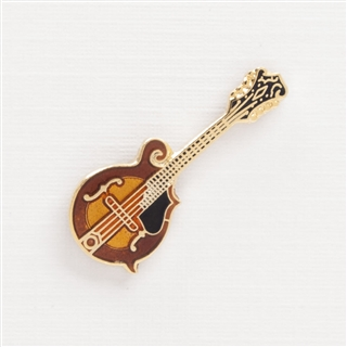 Mandolin Enameled Pin