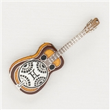 Dobro Guitar Enameled Pin