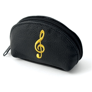 Leather Treble Clef Coin Purse