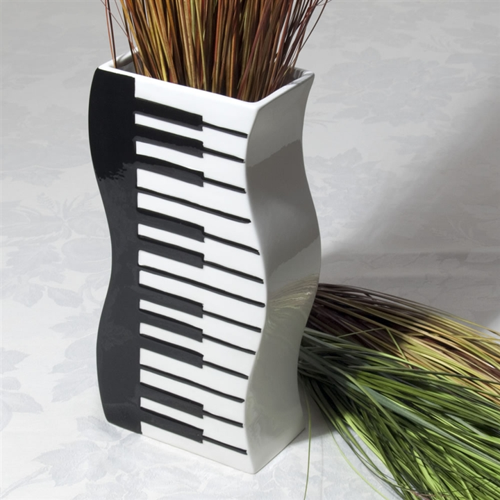 Wavy Keyboard Vase At The Music Stand