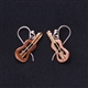 Copper Guitar Earrings