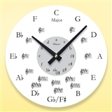 Round Music Wall Clock