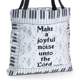 Make A Joyful Noise Tapestry Tote