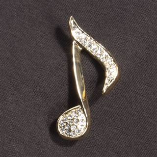 Crystal Eighth Note Pin