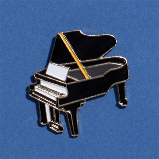 Grand Piano Enameled Pin