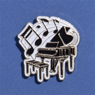 Piano & Music Enameled Pin