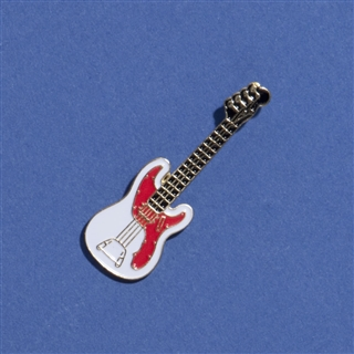 Electric Bass Guitar Enameled Pin