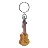 Leather Guitar Keychain