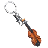 Leather Violin Keychain