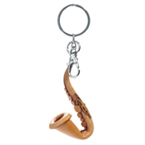 Leather Saxophone Keychain