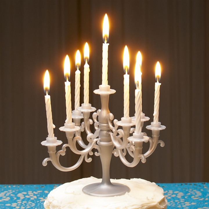Cake Candelabra And Candles Set At The Music Stand