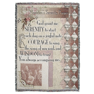 Musician's Serenity Prayer Throw