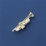 Trumpet Enameled Pin