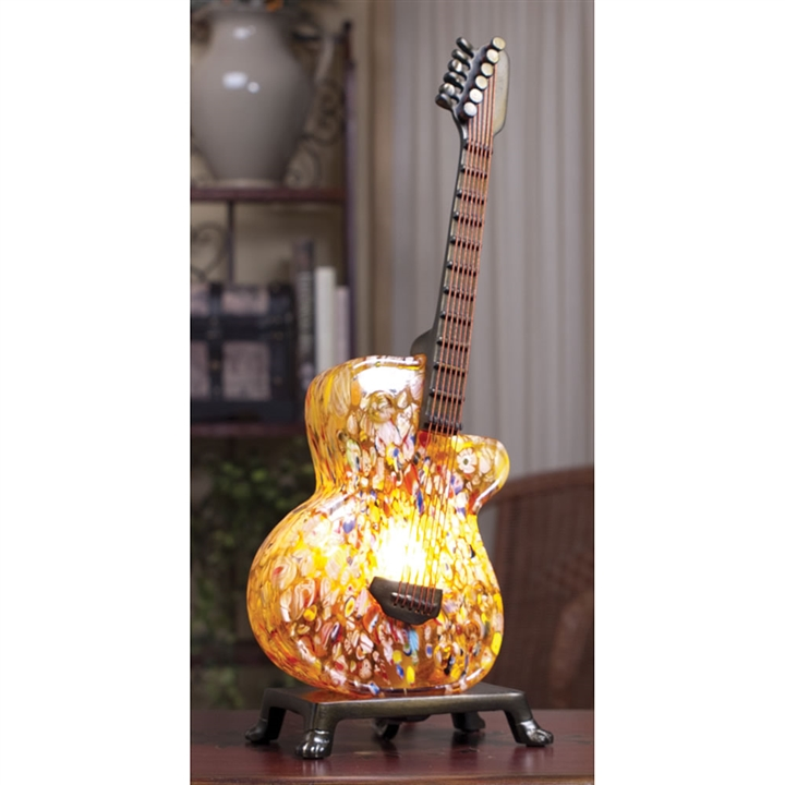 guitar wall decor.htm millefiori art glass electric guitar lamp at the music stand  glass electric guitar lamp at the music