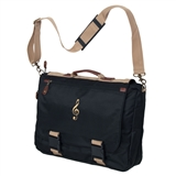 Black and Khaki Expandable Messenger Bag