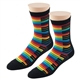 Women's Rainbow Keyboard Socks