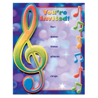 Treble Clef Party Invitations