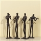 Quartet of Musicians Art Sculptures