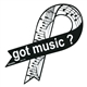 Got Music? Sheet Music Ribbon Magnet