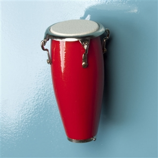Miniature Red Conga Magnet