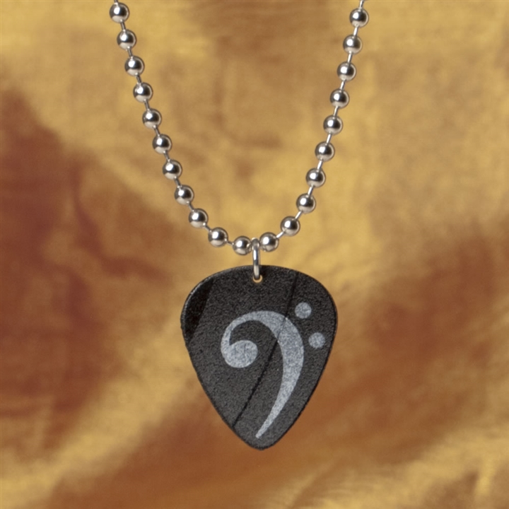 Recycled vinyl record album bass clef necklace at the music stand recycled vinyl bass clef necklace aloadofball